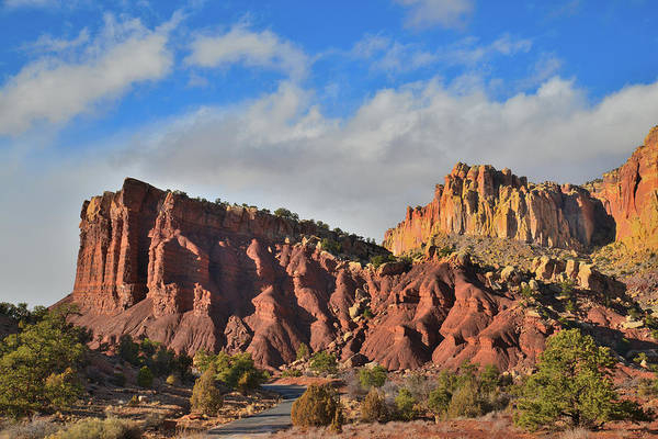 Photograph - Evening Light On Scenic Drive In Capitol Reef by Ray Mathis