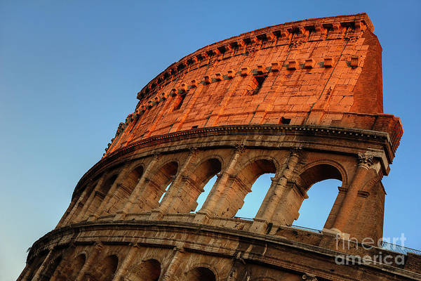 Photograph - Evening Light On The Colosseum by Spencer Baugh