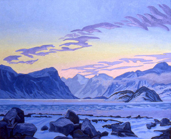 Wall Art - Painting - Evening Light Pangnirtung Fiord by Paul Gauthier