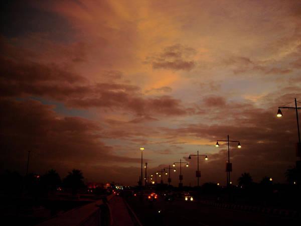 Photograph - Evening Lights On Road by Atullya N Srivastava