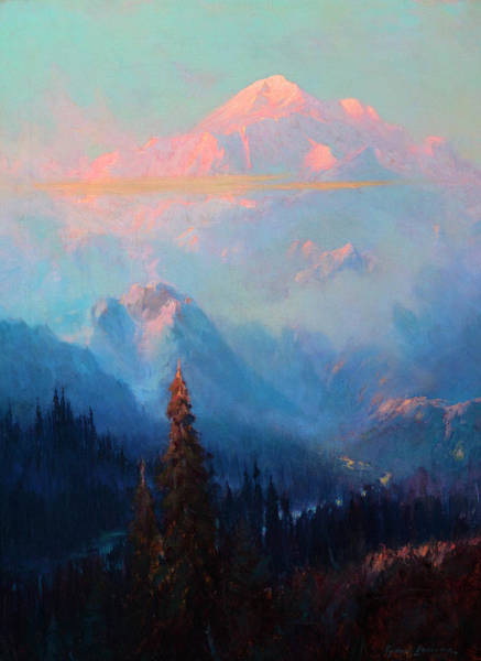 Wall Art - Painting - Evening Mist On Mt. Mckinley by Sydney Mortimer Laurence