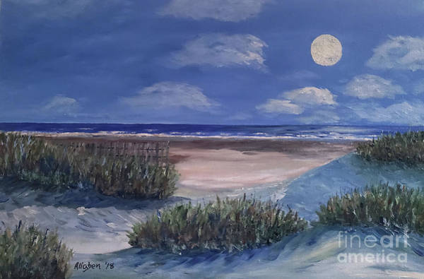 Painting - Evening Moon by Stanton Allaben