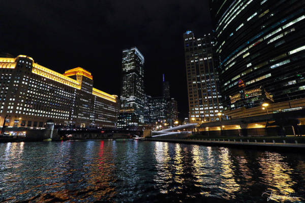 Photograph - Evening On The Chicago River by Jackson Pearson