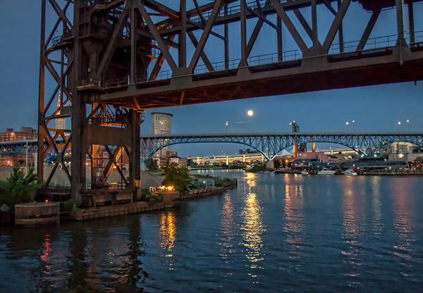 Evening On The Cuyahoga River Art Print