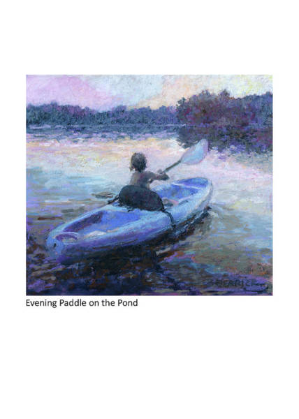 Painting - Evening Paddle On The Pond by Betsy Derrick