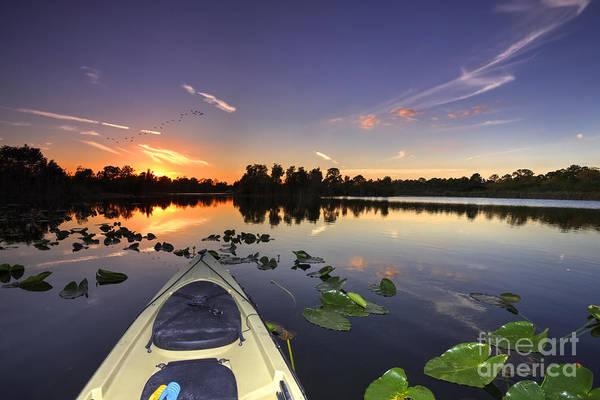 Wall Art - Photograph - Evening Paddle  by Rick Mann