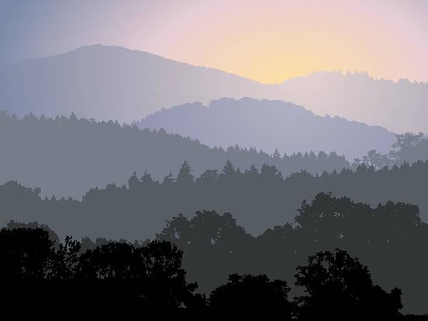 Pine Valley Digital Art - Evening Panorama by Miroslav Nemecek