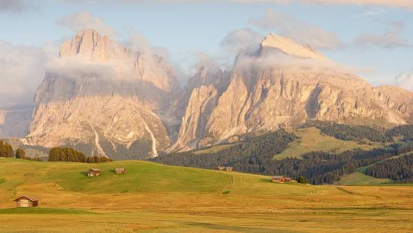 Photograph - Evening Panorama Of The Alpe Di Siusi by Stephen Taylor