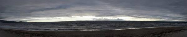 Photograph - Evening Panoramic Ayr Beach, Scotland by Samuel Pye