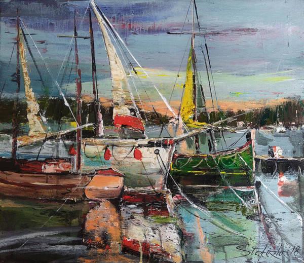 Painting - Evening Pause by Stefano Popovski