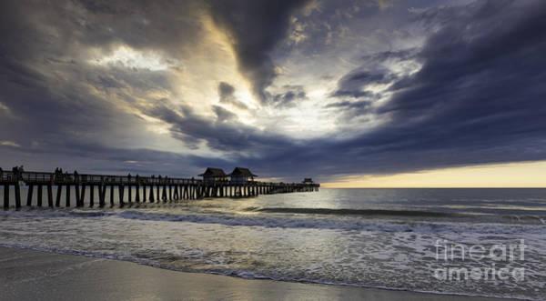 Photograph - Evening Pier Wide by Brian Jannsen