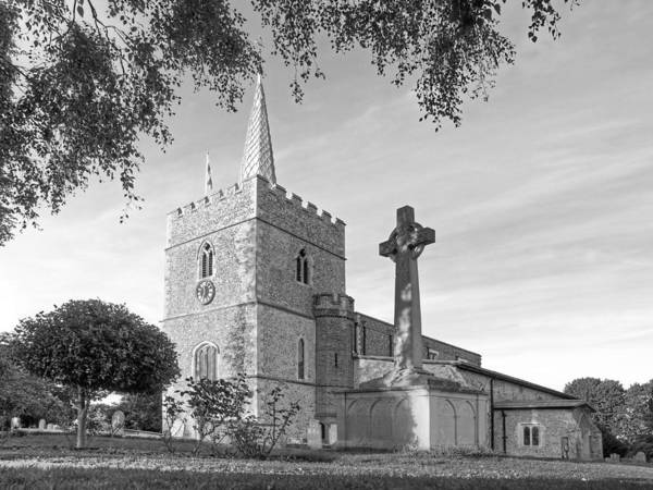 Photograph - Evening Prayers In Black And White by Gill Billington