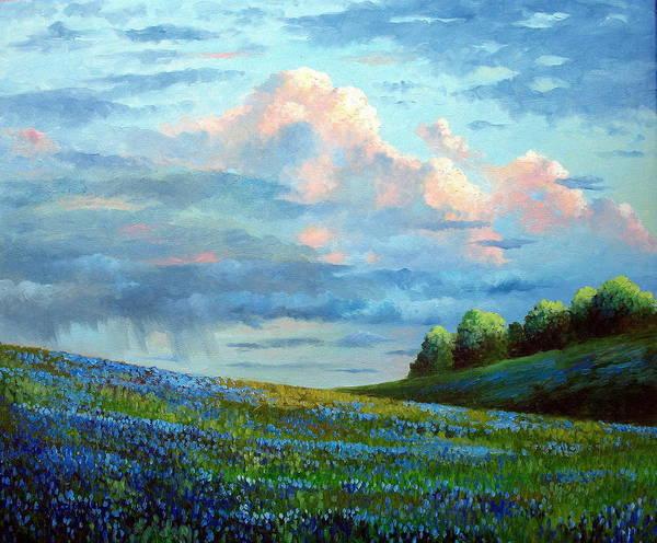 Wall Art - Painting - Evening Rain by David G Paul