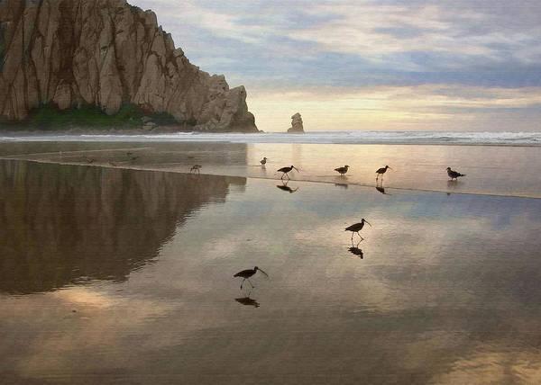 Morro Bay Digital Art - Evening Reflection by Sharon Foster