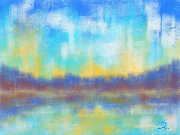 Wall Art - Digital Art - Evening Reflections by David G Paul