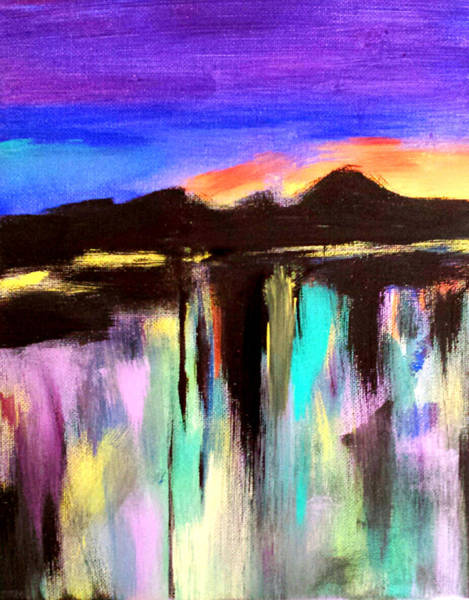 Painting - Evening Reflections by Nikki Dalton