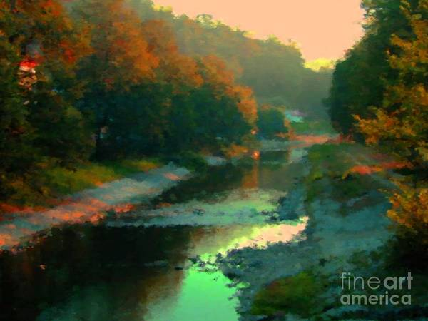 Brook Mixed Media - Evening River by Miroslav Nemecek