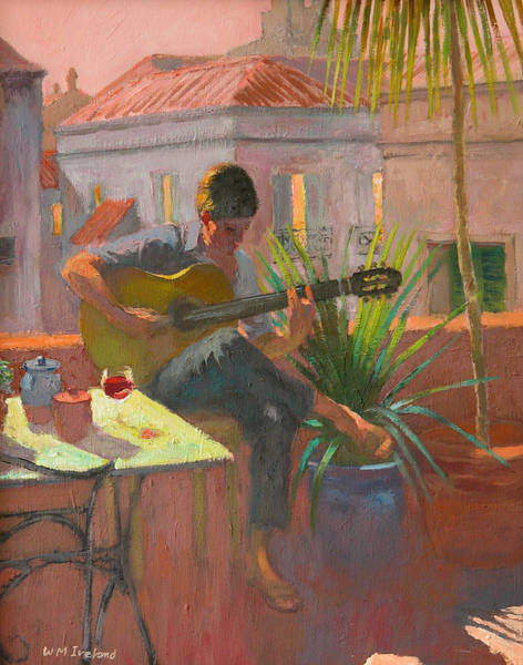 Strum Wall Art - Painting - Evening Rooftop by William Ireland