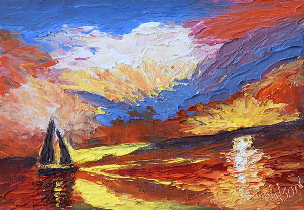 Painting - Sailing Heart by Chrys Wilson