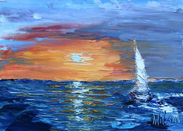 Painting - Evening Sail by Chrys Wilson