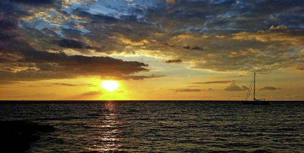 Photograph - Evening Sail by Pamela Walton