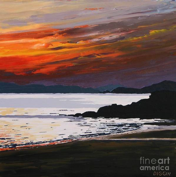 Donegal Painting - Evening Sky-stragill by Stephen Diggin