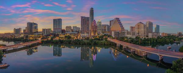 Wall Art - Photograph - Evening Skyline Of Austin, Texas 7-4 by Rob Greebon