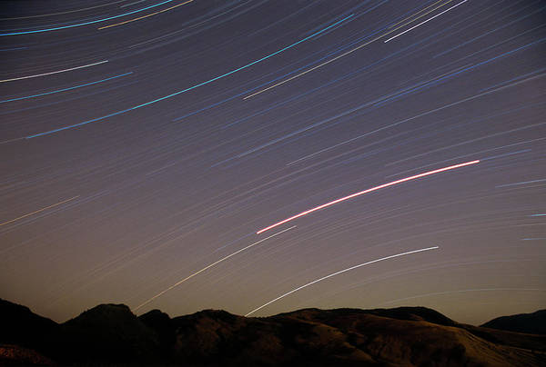 Wall Art - Photograph - Evening Splendor-star Trails by Sandra Bronstein