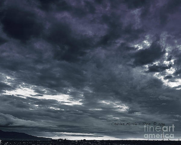 Photograph - Evening Storm by Charles Muhle