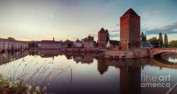 Photograph - evening Strasbourg, medieval bridge by Ariadna De Raadt