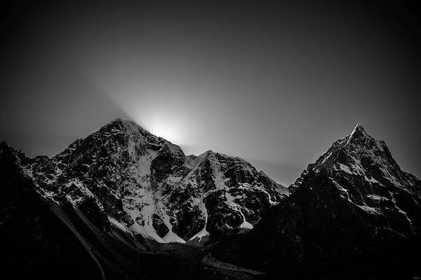 Photograph - Evening Sunbeams In Pheriche by Owen Weber