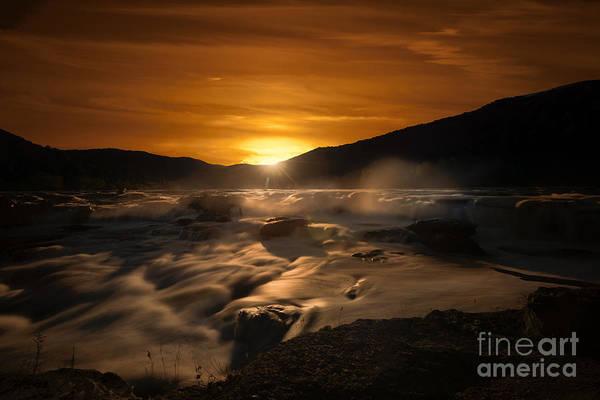 Photograph - Evening Sunset At Sandstone Falls by Dan Friend