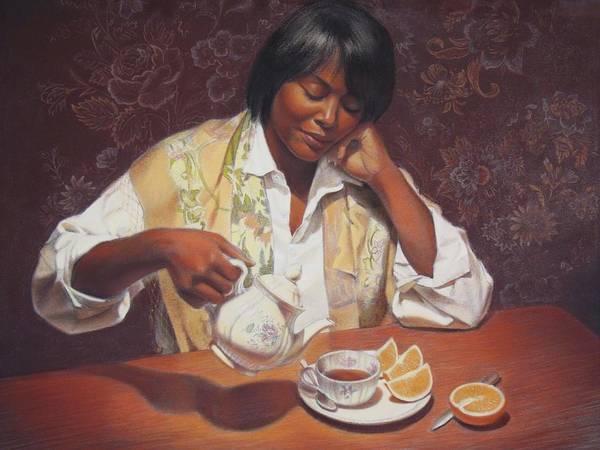 Wall Art - Painting - Evening Tea by Sue Halstenberg