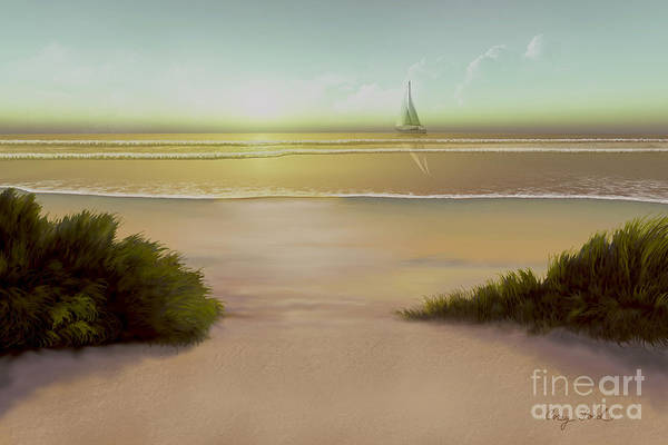 Rudder Painting - Evening Tide by Corey Ford