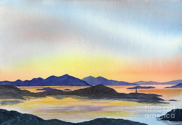 Northern Scotland Wall Art - Painting - Evening Tide by Sharon Freeman