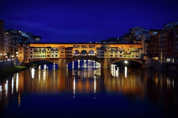 Photograph - Evening View Of Ponte Vecchio by Patricia Strand
