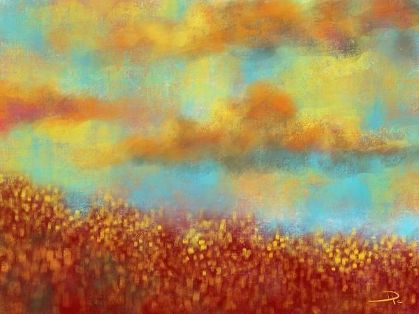 Wall Art - Digital Art - Evening Wildflowers by David G Paul