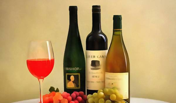 Wall Art - Digital Art - Evening Wine Display by Dan Sproul