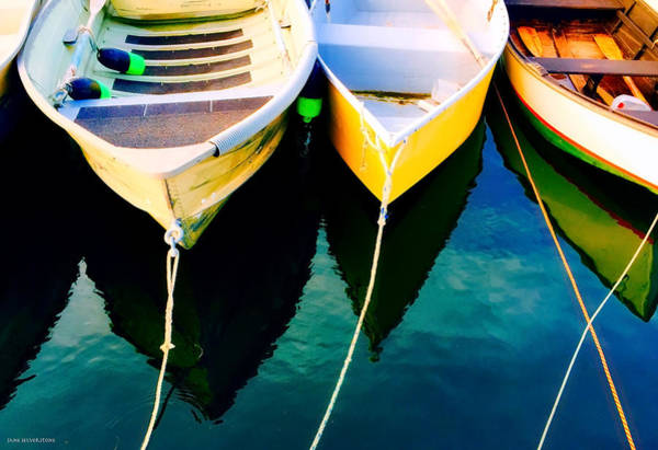 Dinghies Photograph - Evening With Boats by Jane Selverstone