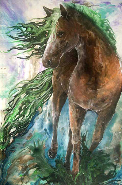 Painting - Ever Green  Earth Horse by Sherry Shipley