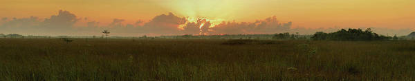 Wall Art - Photograph - Everglades Sunrise Panorama by Stephen  Vecchiotti