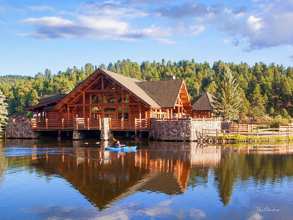 Photograph - Evergreen Boathouse by Tim Kathka