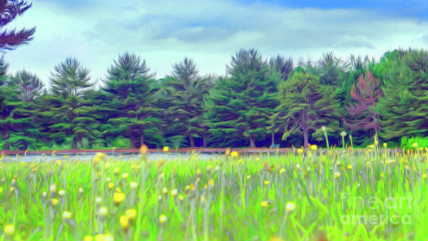Evergreen Lake - Impressionism Art Print