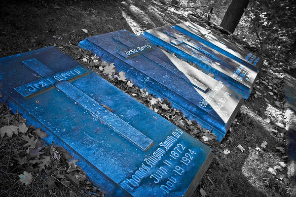 Famous Cemeteries Photograph - Everlasting Blue  by Colleen Kammerer