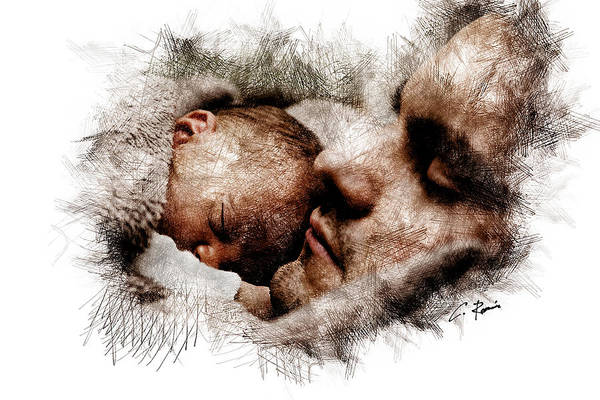 Digital Art - Everlasting Father by Charlie Roman