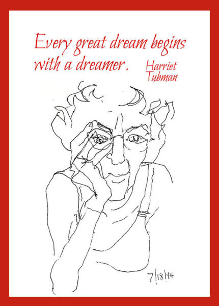 Wall Art - Drawing - Every Great Dream by Peggy Lipschutz