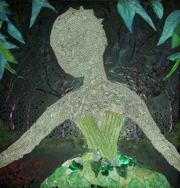 Paper Dress Mixed Media - Every Woman - Ivy by Emily Perry