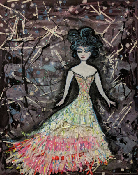 Paper Dress Mixed Media - Every Woman - Merida by Emily Perry