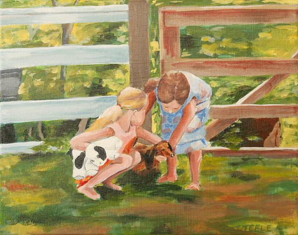 Painting - Everybody Loves Sable by Trina Teele