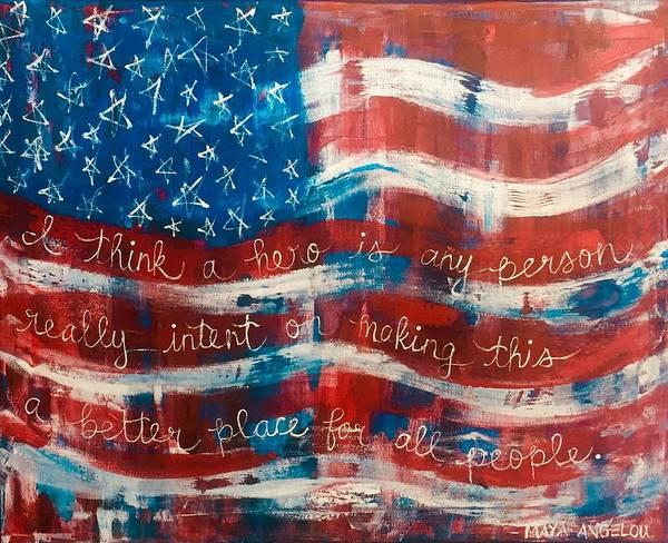 Painting - Everyday Hero  by Monica Martin